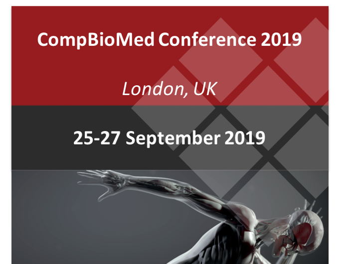 Meet us at CompBioMed Conference 2019, 25-27 September, London