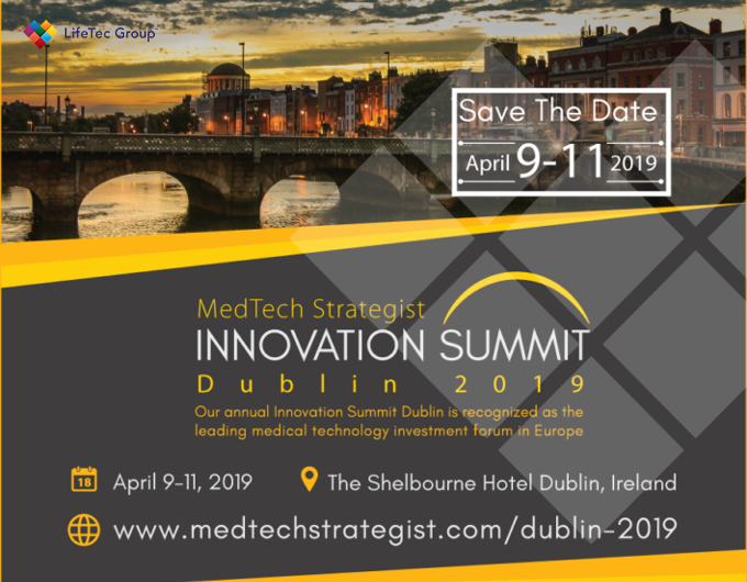Meet us in Dublin @ MedTech Strategist Innovation Summit Dublin 2019