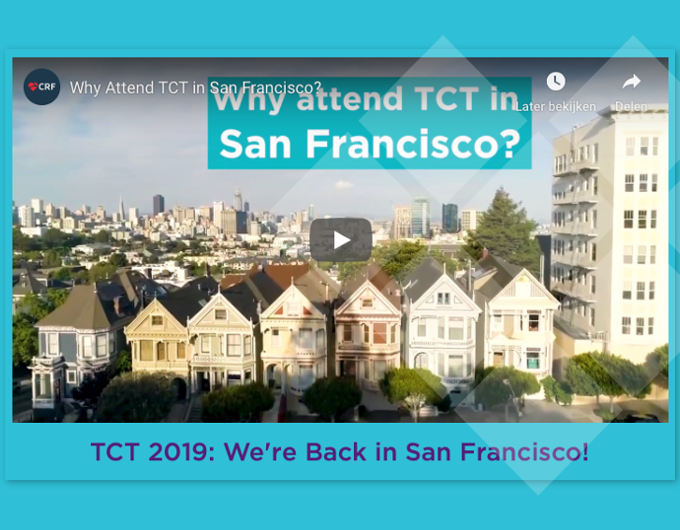 Meet us in San Francisco @ TCT 2019