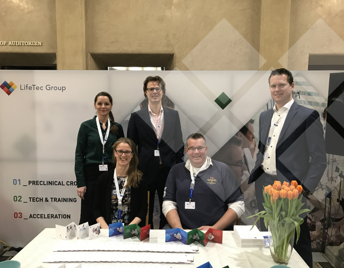 The LifeTec Group team in de Mitral Valve Meeting 'booth' in Zürich