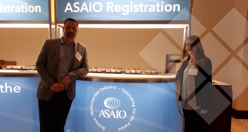LifeTec Group, ASAIO 2018, Washington |  Benjamin Kappler and Noemi Vanerio checking in